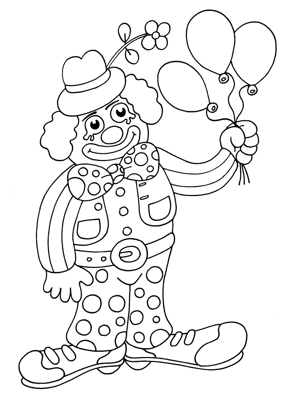 Boyama Resmi Palyaco Coloring Free To Print